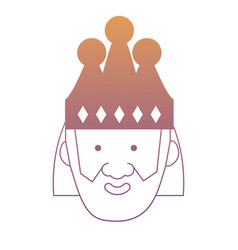 Cartoon king icon image vector