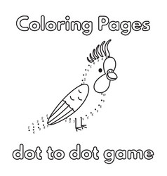 Cartoon parrot coloring book vector