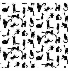 CatSilhouette vector image vector image