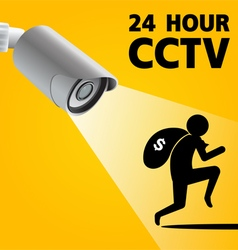 CCTV Security Camera capture robber man vector image vector image