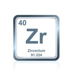 Chemical element zirconium from the periodic table vector