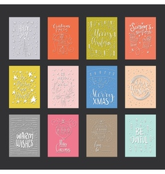 Christmas Card Collection vector image vector image