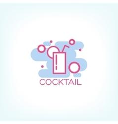 Cocktail logo concept design vector