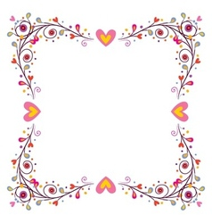 Decorative frame with hearts 2 vector