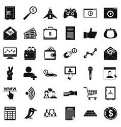 Digital development icons set simple style vector