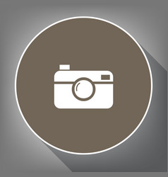 digital photo camera sign white icon on vector image vector image
