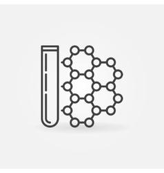 Flask with molecule icon vector image vector image