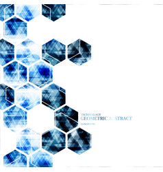 geometric technological digital hexagon abstract vector image vector image