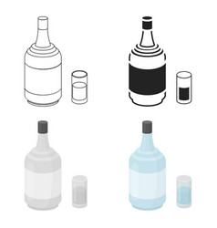 gin icon in cartoon style isolated on white vector image vector image