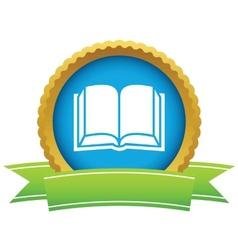 Gold book logo vector