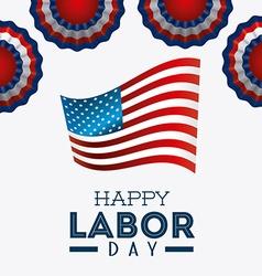 Happy labor day design vector image