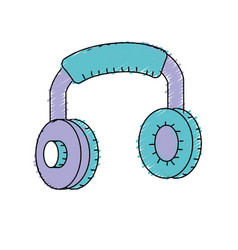 Headphones to listen and play music vector