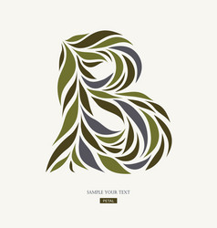 logo design from petals leaves abstract letter b vector image vector image