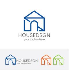modern house logo vector image vector image