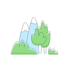 Mountains and trees nature outdoors vector