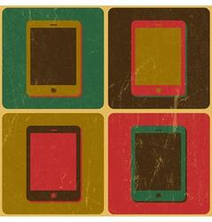 pop art smartphone poster vector image vector image