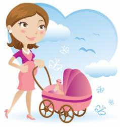 pregnant mother vector image