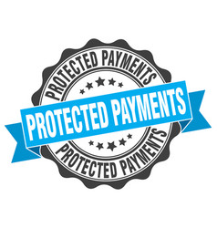 Protected payments stamp sign seal vector