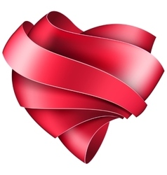 Ribbon twisted in the shape of heart vector