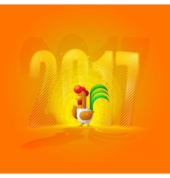 Rooster New Year 2017 Year of the Rooster Figures vector image vector image