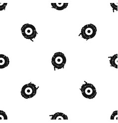scary eyeball pattern seamless black vector image vector image