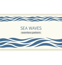 Seamless patterns with stylized sea waves vector image vector image