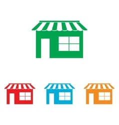 Store sign Colorfull set vector image