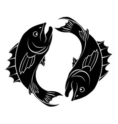 Stylised fish vector