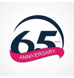 Template Logo 65 Anniversary vector image vector image