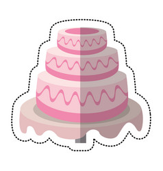 Wedding cake sweet dessert vector