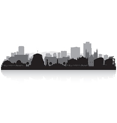 Wellington New Zealand city skyline silhouette vector image