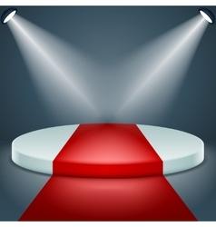 Award podium stage ceremony illuminated 3d vector