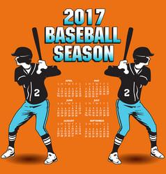 2017 baseball season artwork vector image