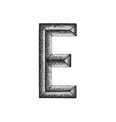 Vintage hand drawn letter vector