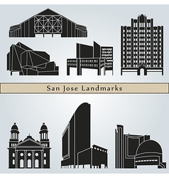 San jose landmarks and monuments vector