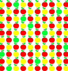 Seamless texture with apple in green yellow and vector