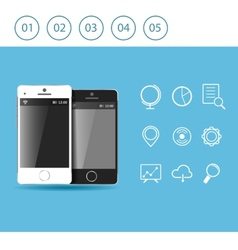 smart phone icons design vector image