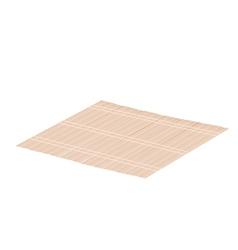 Brown bamboo mat on a white background vector