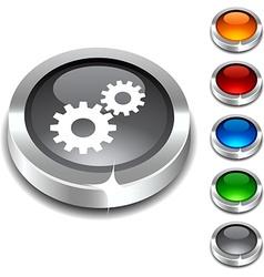 Settings 3d button vector
