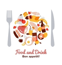 Food and drink concept vector