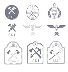 Railway emblems vector