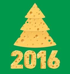 Cheese new year symbols vector image