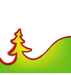 Christmas background christmas-tree strokes symbol vector