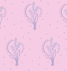 May lily pattern vector