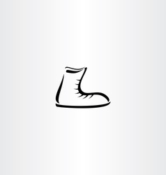 Shoes icon stylized element vector