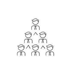 Business pyramid sketch icon vector image