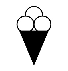 Ice cream symbol 1207 vector