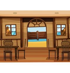 A saloon bar vector image vector image