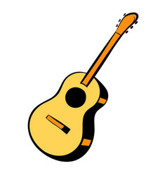 acoustic guitar icon cartoon vector image vector image