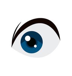 Anime blue eye comic manga image vector